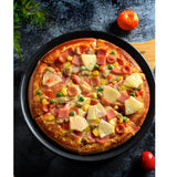 SOGA Round Black Steel Non-stick Pizza Tray Oven Baking Plate Pan Set