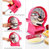 SOGA Commercial Manual Vegetable Fruit Slicer Kitchen Cutter Machine Pink