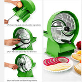 SOGA 2X Commercial Manual Vegetable Fruit Slicer Kitchen Cutter Machine Green