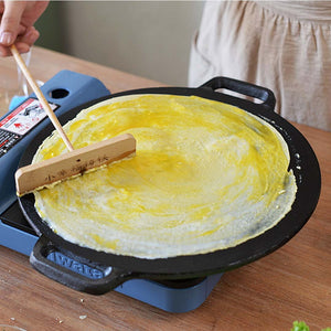 SOGA 37cm Cast Iron Induction Crepes Pan Baking Cookie Pancake Pizza Bakeware