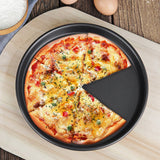 SOGA 2X 8-inch Round Black Steel Non-stick Pizza Tray Oven Baking Plate Pan