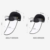 Outdoor Protection Hat Anti-Fog Pollution Dust Saliva Protective Cap Full Face HD Shield Cover Kids Pink