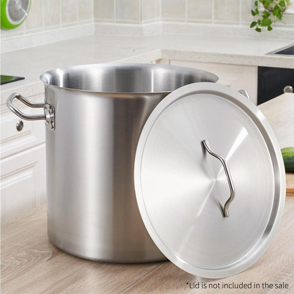 SOGA Stock Pot 71L Top Grade Thick Stainless Steel Stockpot 18/10 Without Lid