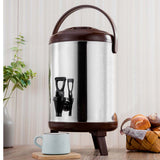 SOGA 4X 16L Portable Insulated Cold/Heat Coffee Tea Beer Barrel Brew Pot With Dispenser