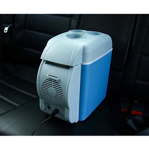 SOGA 2X 7.5L Car Small Refrigerator Cooler Box 12V Mini Fridge Cooler Warmer Blue Color