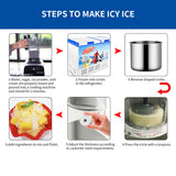 SOGA 2X 350W Commercial Ice Shaver Crusher Machine Automatic Snow Cone Maker