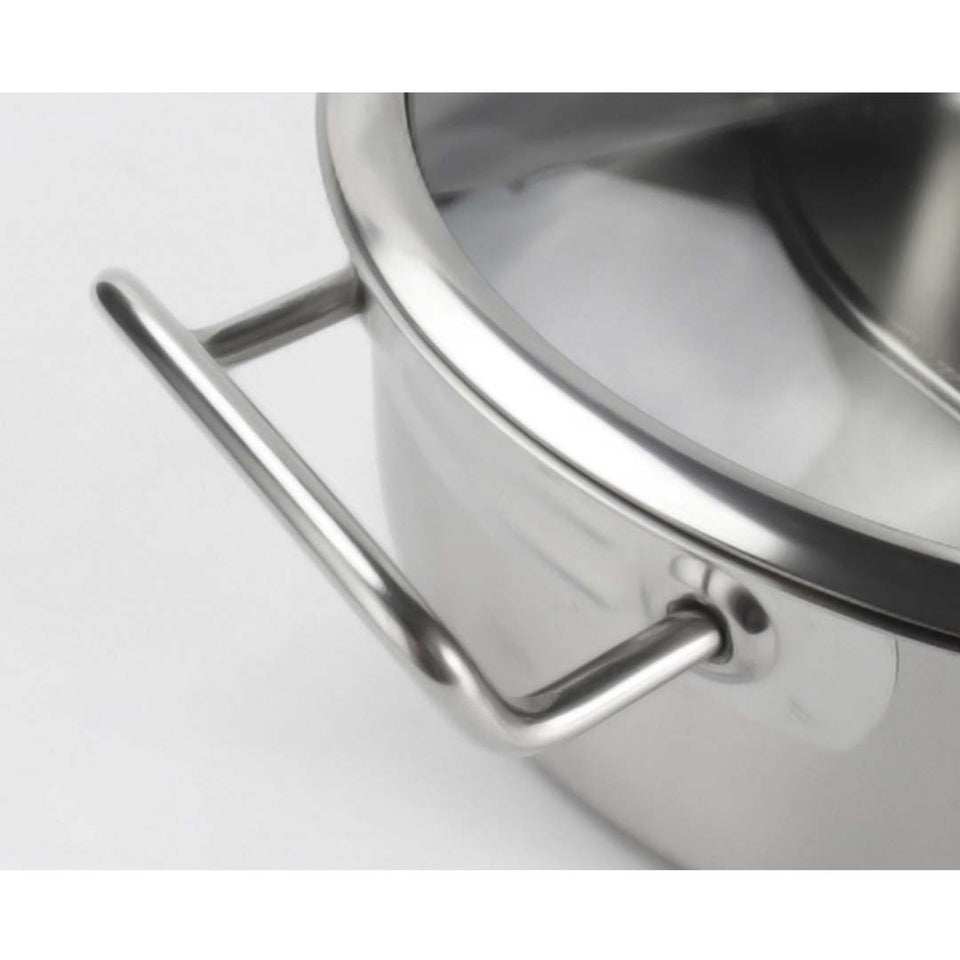 SOGA Dual Burners Cooktop Stove 28cmStainless Steel Induction Casserole and 28cm Fry Pan