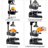 SOGA 2X Commercial Stainless Steel Manual Juicer Hand Press Juice Extractor Squeezer Orange