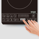 SOGA Dual Burners Cooktop Stove 17L Stainless Steel Stockpot and 28cm Induction Fry Pan