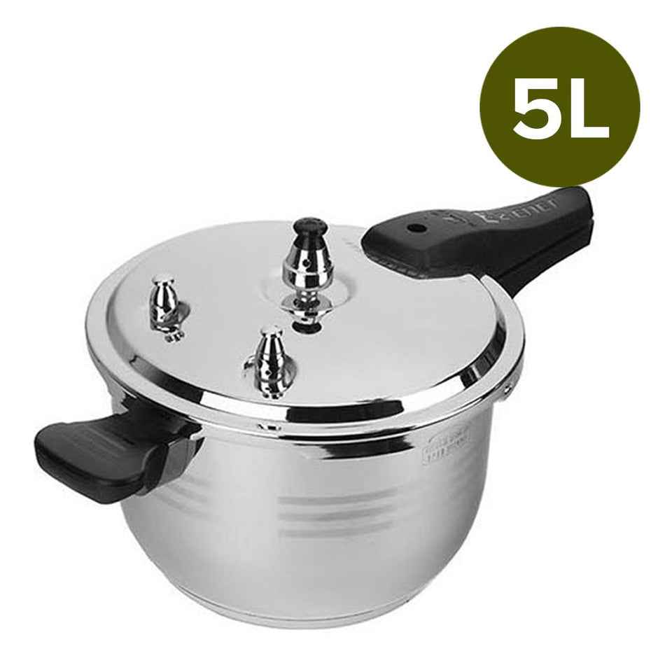 2X 5L Commercial Grade Stainless Steel Pressure Cooker