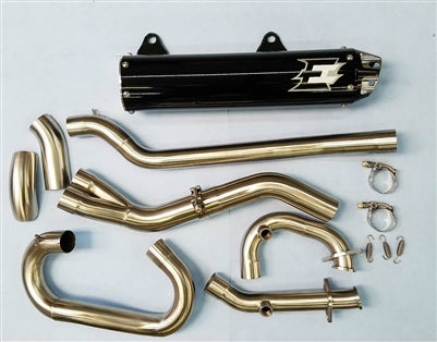 Kawasaki KVF 650/750 Full exhaust system (Single) − ATV - Get It Power Sports