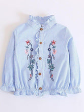 Load image into Gallery viewer, Embroidered Flower Blouse