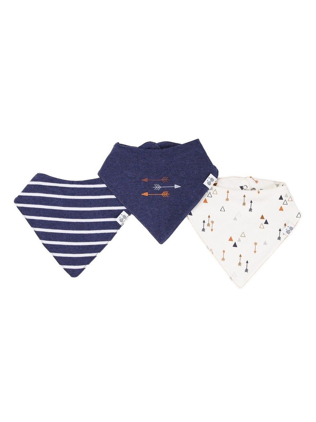 Boy blue bandana bib