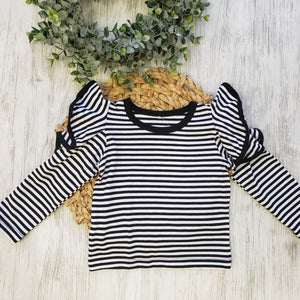 Stripes + Ruffles Top