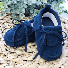 Load image into Gallery viewer, Suede Blue Moccasins