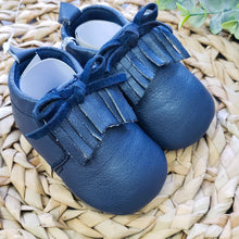 Load image into Gallery viewer, Blue Boy Moccasins