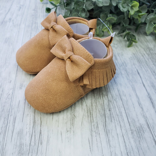Bow Tan Moccasins