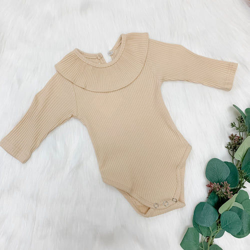 Collared Ribbed Bodysuit
