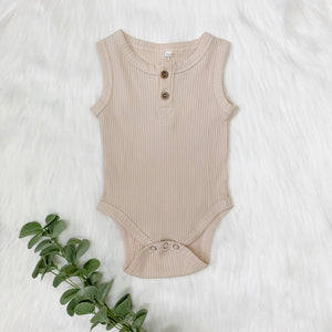 Sleeveless Ribbed Bodysuit