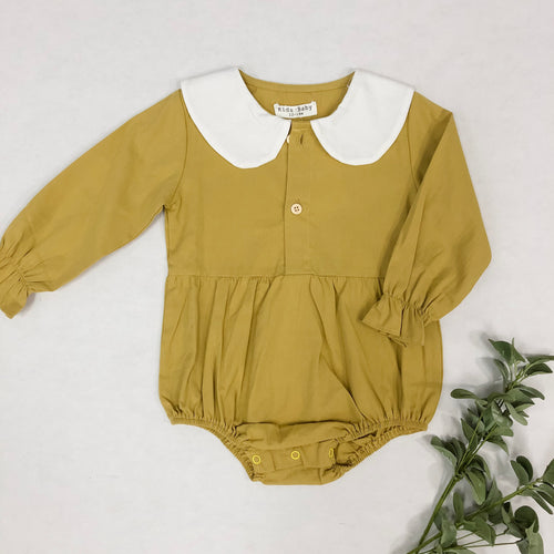 Peter Pan Collar Yellow Romper