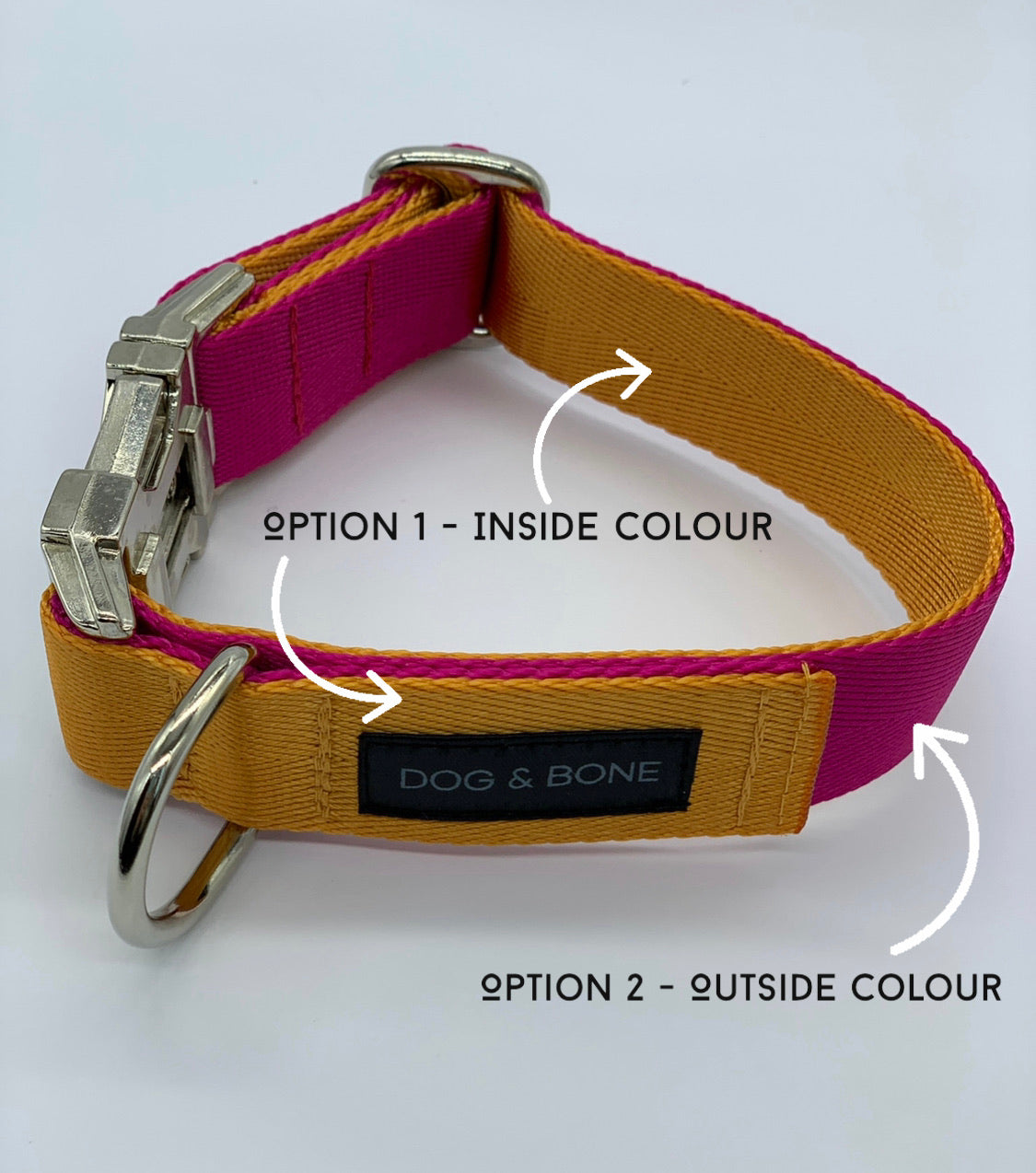 The Luxe Double Layered Buckle Collar Size 25mm