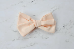 ballet pink hand tied bow