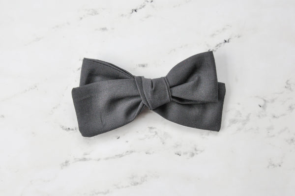 charcoal hand tied bow