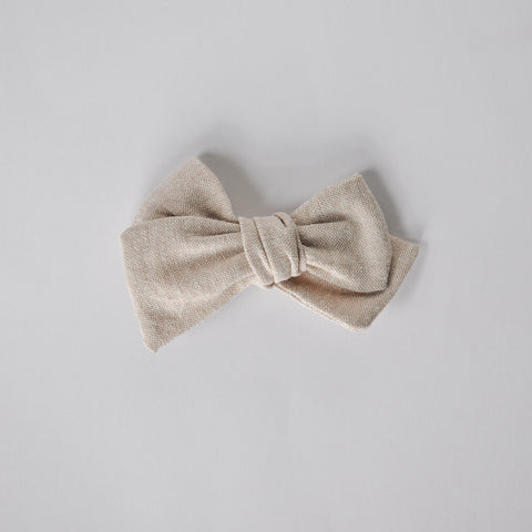 flax linen hand tied bow