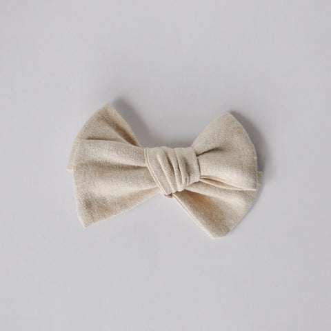 natural linen hand tied bow