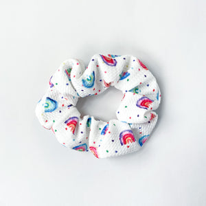 watercolor rainbow scrunchie