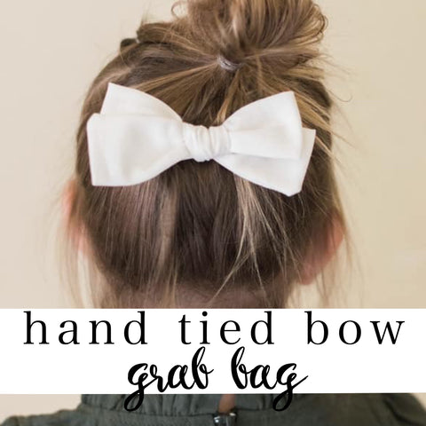 5 hand tied bows grab bag