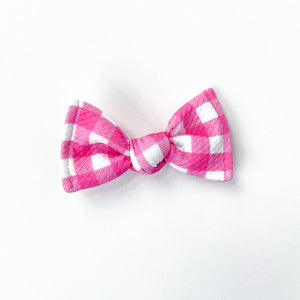 pink gingham knot