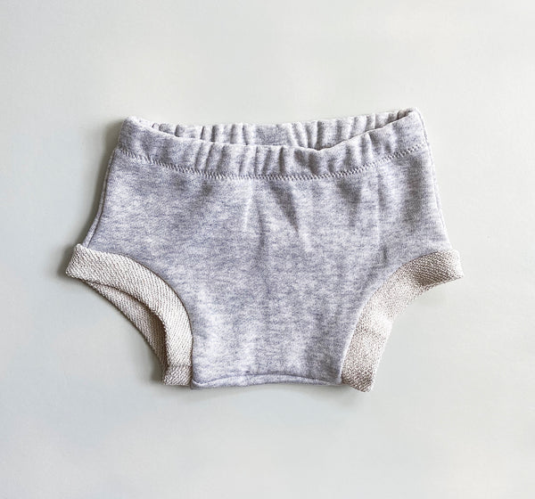 gray French terry bummies