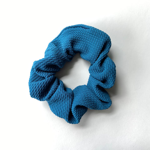 peacock scrunchie
