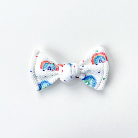 watercolor rainbow knot