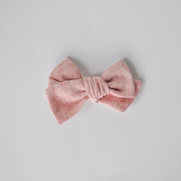 berry linen hand tied bow