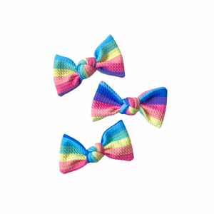 dark candy stripe knot bow