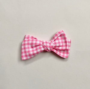 pink gingham hand tied