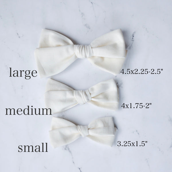 black and white buffalo plaid hand tied bow (small print)
