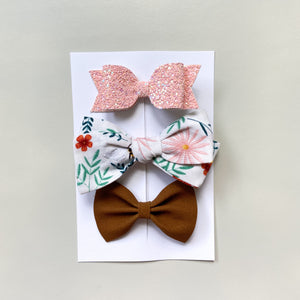 bee happy hand tied bow ONLY