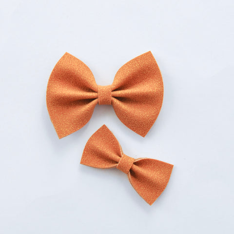 goldenrod faux suede bow