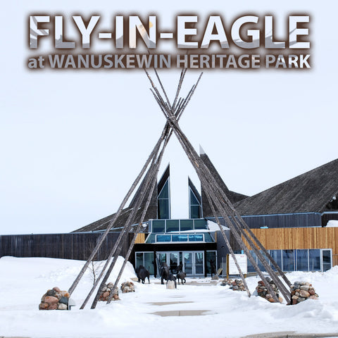 Fly In Eagle at Wanuskewin Heritage Park (Cree)