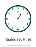 Hour Clock Cards (Dene)