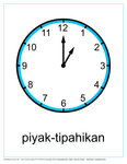 Hour Clock Cards (Woodland Cree TH)