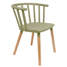 Load image into Gallery viewer, Green Vintage Dining Chairs