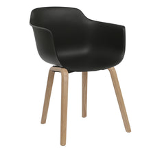 Load image into Gallery viewer, black contemporary dining chairs