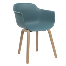 Load image into Gallery viewer, blue contemporary dining chairs
