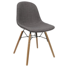 Load image into Gallery viewer, Grey Upholstered Dining Chairs