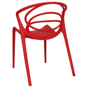 Red designer garden chairs