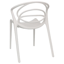 Load image into Gallery viewer, White designer garden chairs